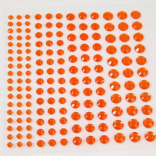 Orange Acrylic Flat back Rhinestones 3mm 4mm 5mm 6mm Embellishment