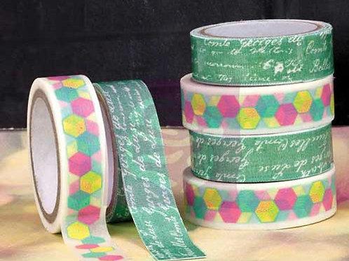 Washi Masking Tape Roll Prima Marketing Washi Tape and Fabric Tape Hello Pastel