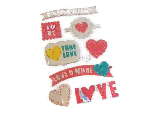 Love Valentine Day Sticker Embellishments Cute Hearts Scrapbooking Cardmaking