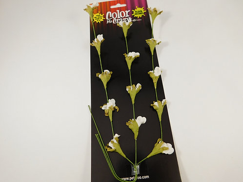 White Floral Vine Petaloo Color Me Crazy Bouquet White Paper Flowers 1574-002