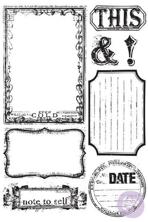 Something Blue Prima Stamp Set Cling Rubber Stamps Item 813666