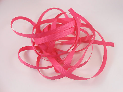 5 Yards Shocking Pink Grosgrain Ribbon 3/8 inch wide embellishment