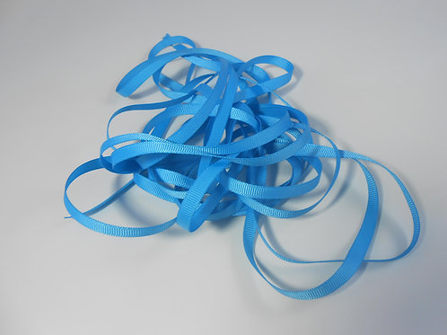5 Yards Turquoise Blue Grosgrain Ribbon 1/4 inch wide trim scrapbooking