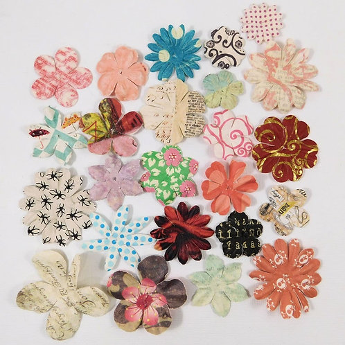 Prima Paper Flowers Pattern Assortment No 538 Got Flowers prima flowers sampler