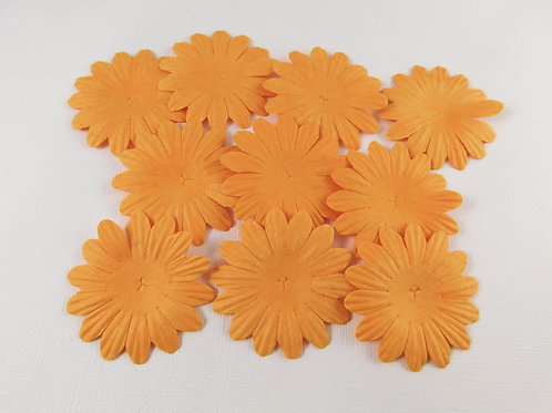 Mulberry Paper Flowers Assortment No. 103 - Orange Scrapbook supplies floral
