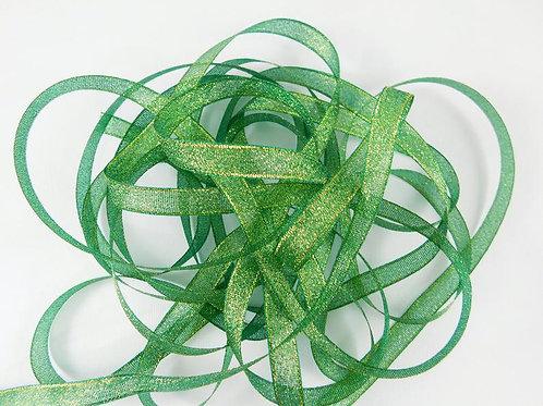 Green and Gold Metallic 1cm ribbon 5 yard Embellishment Trim craft Embellishment