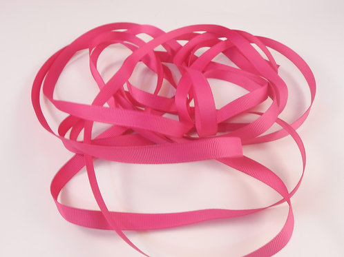 5 Yards Fuchsia Pink Grosgrain Ribbon 3/8 inch wide trim scrapbooking