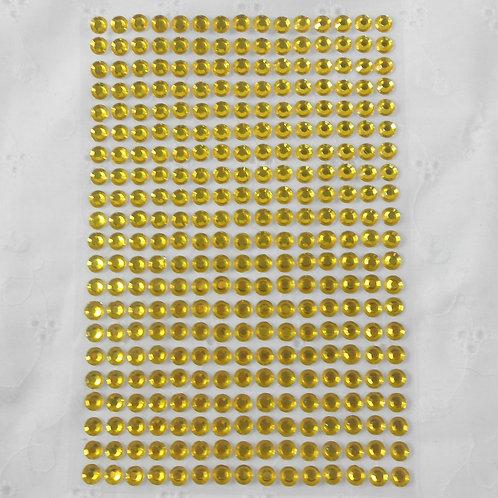 Yellow Acrylic Flatback Rhinestones 315 per pack yellow Round