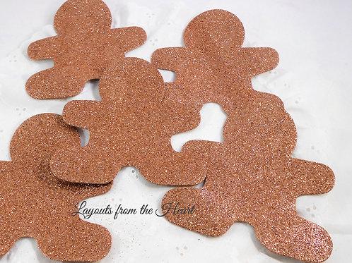 Foamed and Glittered Ginger Bread Glitterbread Boys Gingerbread Foam