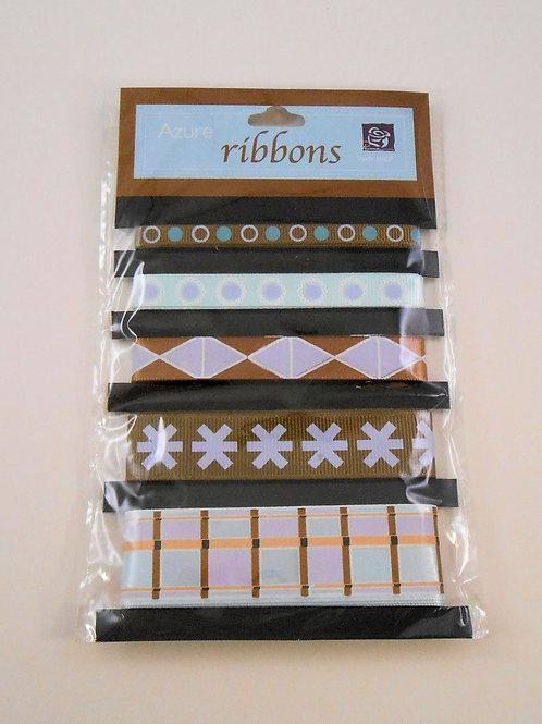 Prima Marketing Azure Ribbon pack of 5 510961 sale Scrapbooking