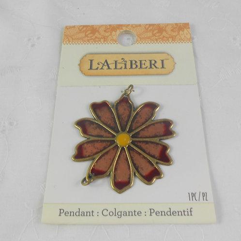 LaLiBeri 56-12402 Metal Colored Connector Flower Pendant EK Success Crafts Jewel