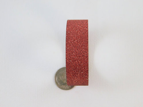 Dark Red Glitter Solid Washi Tape Roll 15mm 3.5 meters embellishment sticker