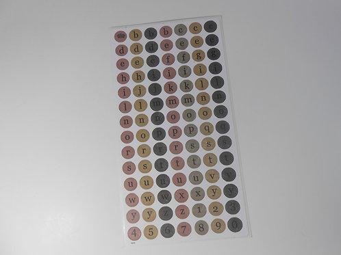 Alphabet Cardstock Sheet Sticker Embellishment Scrapbooking Letters