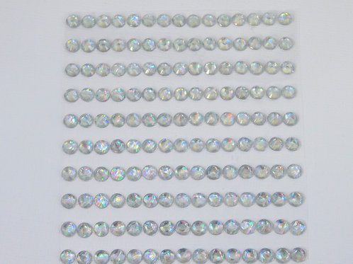 Clear Iridescent Acrylic Flatback Rhinestones 150 per pack 6mm Round Rhinestone
