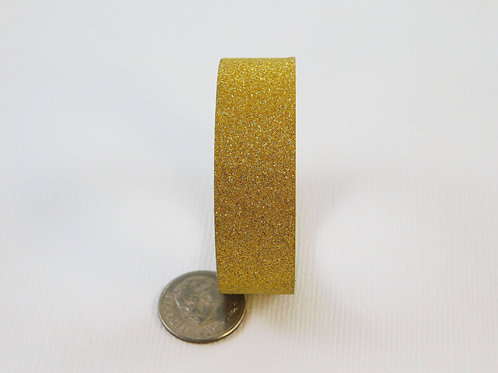 Dark Gold Glitter Washi Tape Roll 15mm 3.5 meters (3.83 yards) Embellishment scr