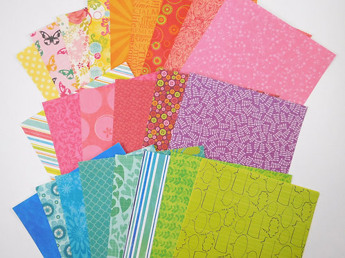 Colorbok brights 6x6 SAMPLER Pack No. 107 Pack 25 designs single sided paper