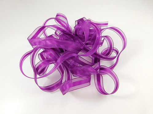 Plum Purple Sheer Ribbon Satin Center 4 Yards Organza 1/2 inch craft supplies