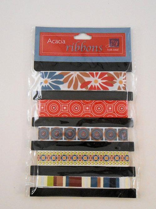 Prima Marketing Acacia Ribbons pack 5 designs 511883 sale Scrapbooking