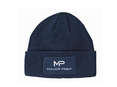 """""""Happiness"""" Navy Blue Beanie"""