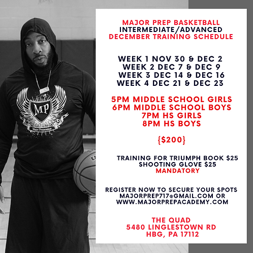 December Intermediate/Advanced Training