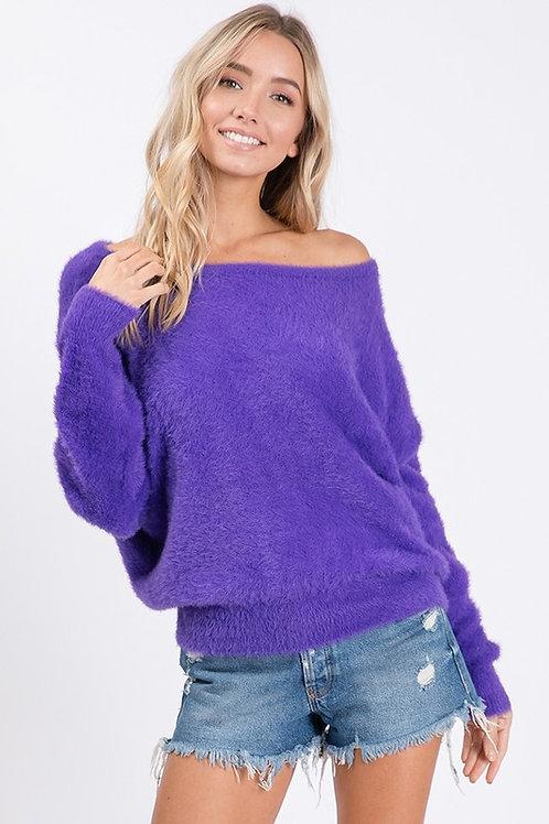 Purple Angora Sweater