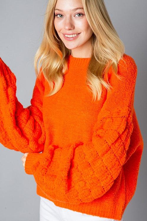 Orange Bubble Sweater