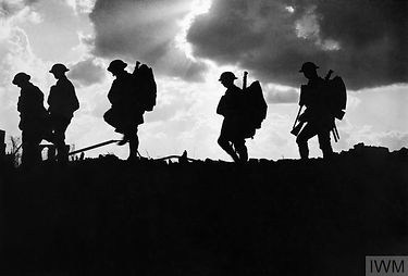 Ep 1 Tommies in silhouette 1917 (IWM Q29