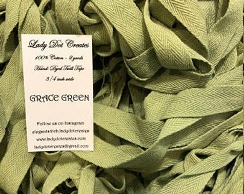 Grace Green Twill Tape