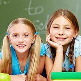 Lächeln in der Klasse