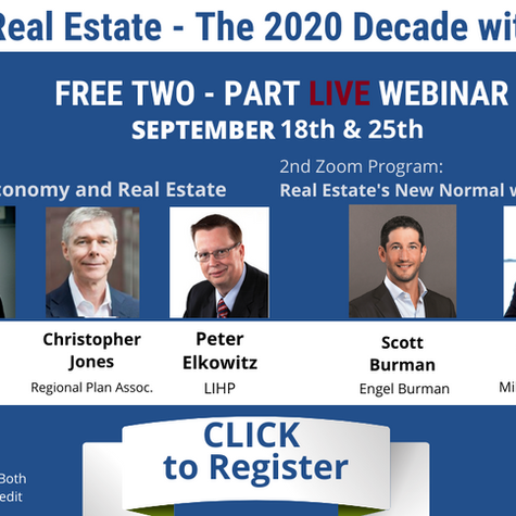 "Fall 2020 Symposium: ""Focus on L.I. Real Estate - The 2020 Decade with Coronavirus"""