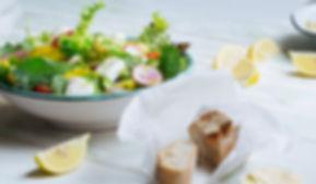 Ensalada fresca del queso Feta