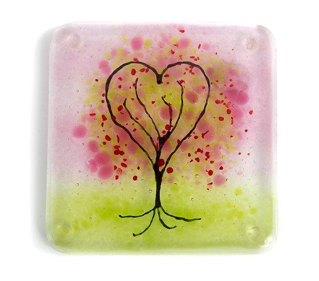 Glass Tree Coaster