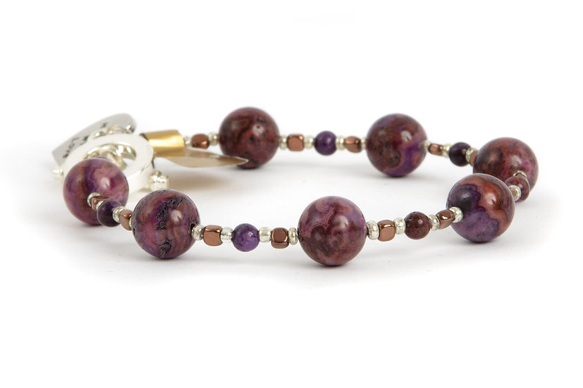 Purple Jasper Agate Bracelet UK Made