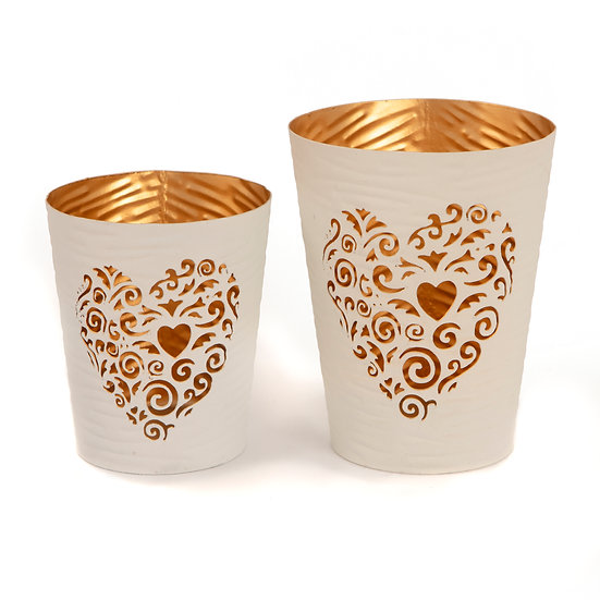White & Gold Tealight Holders