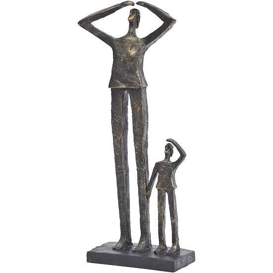 Antique Bronze Gazing Pair Sculpture