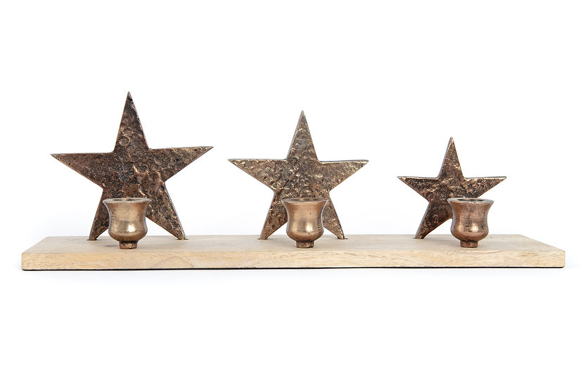 Three Star Candle Holder
