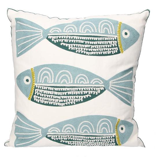 Crewel Work Fish Cushion