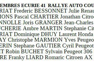 Rallye AUTOCOURSE Bleré