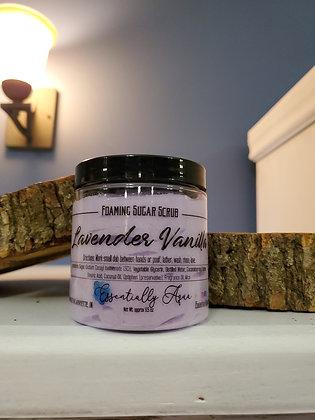 Large Lavender Vanilla Foaming Sugar Scrub