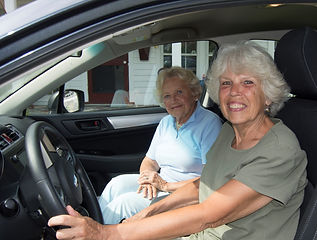 Volunteer driver and passenger