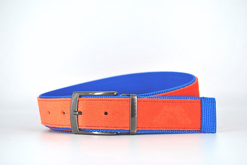 Orange & Electric blue