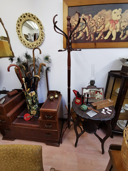 Vintage Bentwood rotating coat hat stand