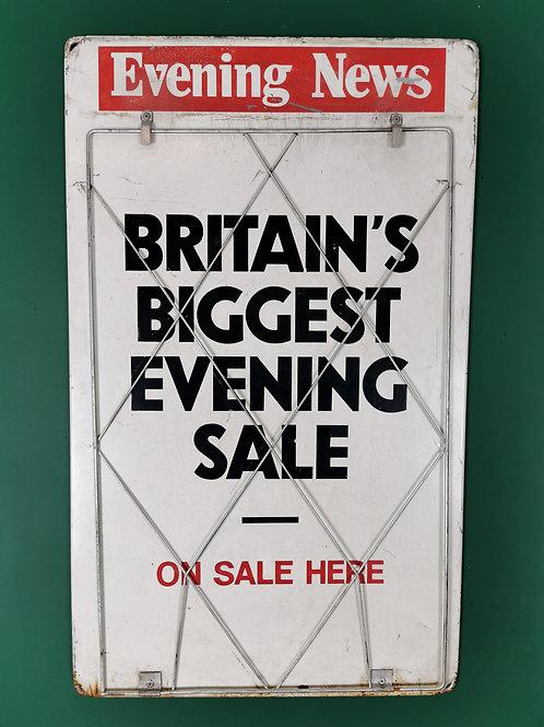 Evening news billboard