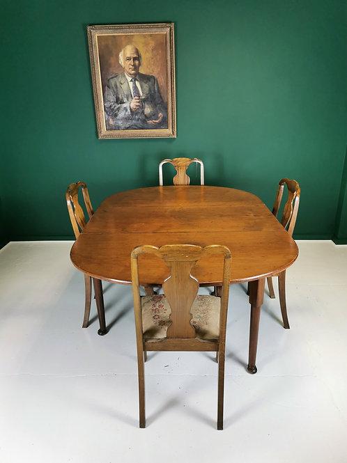 George III Drop leaf dining table