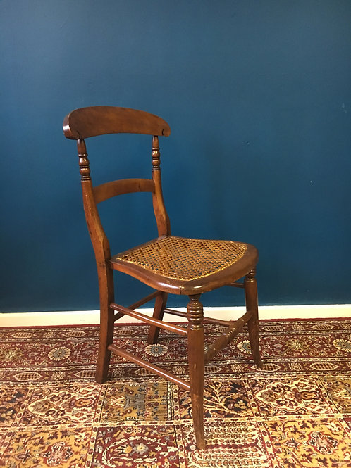 Antique oak wicker seat chair