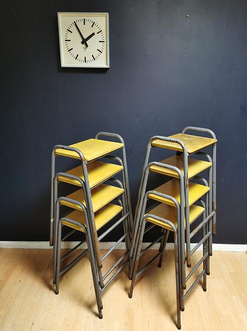 School lab stools metal & wood