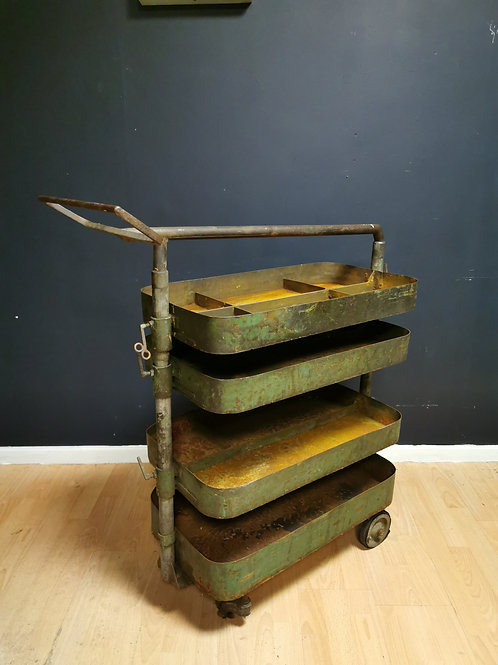 Hungarian factory tool trolley