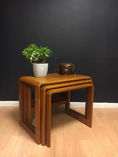 Vintage Danish nest of tables in teak