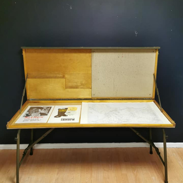 Folding military map table
