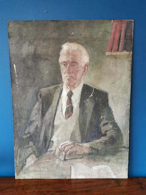 Oil painting portrait of gentleman